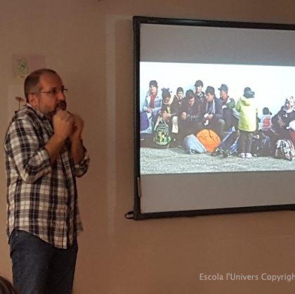 Rafael Simó fa una xerrada a Grans sobre els refugiats