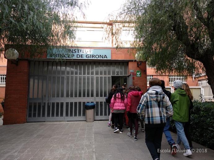 Els nens i nenes de 6è visitem l'Institut Príncep de Girona